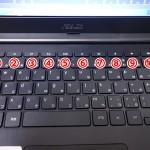 Chromebook ASUS C300MAのキーボードで特徴的なボタン