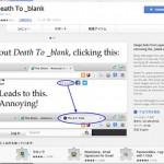 新規タブを制限するChrome拡張「Death To _blank」